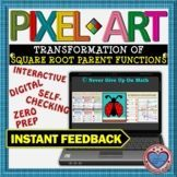 PIXEL ART: Transformation of Square Root Parent Function D Math Stations, Math Centers, Interactive Activities, Teacher Resources, 12th Maths, Secondary Teacher, Fun Math, Critical Thinking, Math Lessons