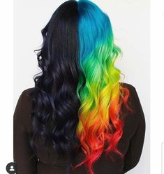 50 Trendy Hair Colors - Page 17 of 50 - Fashion is an attitude. Two Color Hair, Cute Hair Colors, Pretty Hair Color, Beautiful Hair Color, Hair Dye Colors, Half Dyed Hair, Half And Half Hair, Split Dyed Hair, Dye My Hair