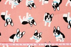 Boston Terrier Fabric made in Japan Dog Fabric by SewingdoingShop