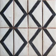 "ZIG ZAG LG.   charcoal on off white   8 11/16"" x 4 3/16""   http://www.versatileinc.ca/coll_tabarka.html"