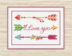 Love arrows Cross Stitch Pattern PDF arrows Amur by TimeForStitch