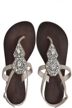 Maya Rhinestone Sandal. Normally not a jeweled sandal girl but love these and the soles