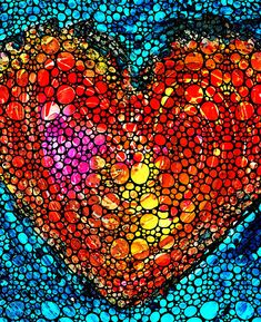 Stone Rock'd Heart - Colorful Love From Sharon Cummings by Sharon Cummings.