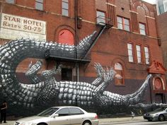 Street Art By Roa - Atlanta (GA)