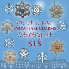Choose from a variety of exclusive #AmericanCharm snowflakes!