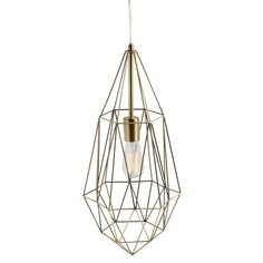 """Gold Caged Metal Wire Hanging Pendant Light 22.5"""" Industrial Bohemian Wall Plug #Industrial"""