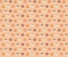 PokéDots - Fire (large) fabric by kritterstitches on Spoonflower - custom fabric