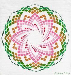 Sacred Geometry / Torus / Lotus of Heart by Sarjana Sky Sacred Geometry Symbols, Yoga Studio Design, Geometry Pattern, Spirograph, Mandala Art, Flower Mandala, Flower Of Life, Geometric Art, Op Art