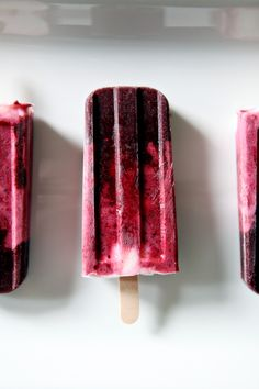 Blackberry and Strawberry Yogurt Popsicles // The Speckled Palate