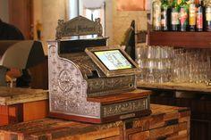 Restaurant Piazza Vintage Style Kasse GASTROFIX von vorne