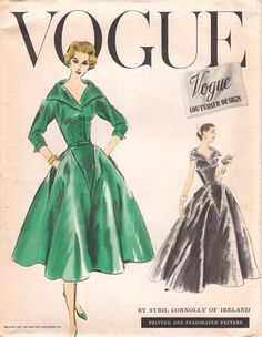 1950s Vogue Couturier Design 926 Vintage Pattern Day Dress or Evening Gown Designed by Sybil Connolly of Ireland UnCut on Etsy, $195.00