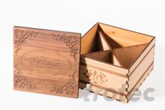 With the Trotec laser systems, you can apply valuable, individual ornaments onto a single piece or an entire series. Trotec Laser, Laser Paper, Hope Chest, Wooden Boxes, Laser Engraving, Solid Wood, Arts And Crafts, How To Apply, Diy