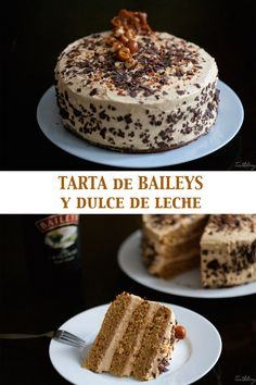 Tarta de Bailays y dulce de leche Dessert Drinks, Brioche, Cake Recipes, Sweet Recipes, Snack Recipes, Dessert Recipes, Plein, Cheesecake Cake, Brownie Cake