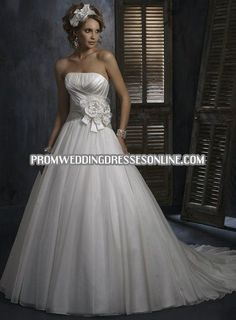 Maggie Sottero Hadley 2010 A Line Satin Wedding View quality Maggie Sotterohadley wedding dress details from Jobridal Wedding INC mobile storefront - Mobile Plan My Wedding, Farm Wedding, Wedding Bells, Dream Wedding, Wedding Ideas, Maggie Sottero Wedding Dresses, Wedding Gowns, Strapless Organza, Long Flowers