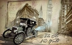 """""""The Old New World"""" is a photo-based animation project. It's a travel back in time with a little steampunk time machine. main part of this video was made with Camera projection based on photos of New York, Boston, Detroit, Washington, D.C., and Baltimore between 1900 and 1940, and were obtained from the website Shorpy.com"""