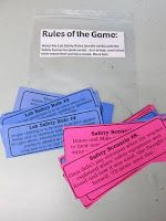 Lab Safety Activity - Match the Lab Safety Rules (purple cards) with the Safety Scenarios (pink cards). *Free PDF download on site*