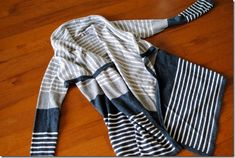 Stitch Fix cardigan. I like the gradient, neutral colors and the stripes. Looks like a flattering length