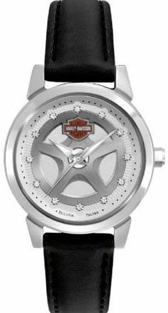 Harley-Davidson® Women's Watch. Leather Strap. Swarovski® Crystal Hour Marks, 76L159 Harley-Davidson. $129.95. Save 21%!