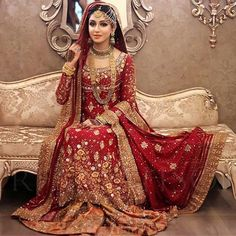 Pakistani Wedding Dress For Bride With Indian Bridal Wear, Asian Bridal, Pakistani Wedding Dresses, Indian Dresses, Desi Bride, Glamour, Moda Indiana, Pakistan Wedding, Bollywood