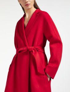 43f23144970a29 Max Mara NOTIZIA Wool Cashmere Silk Coat Size 10 Red Color NWT NEW MSRP   1225!