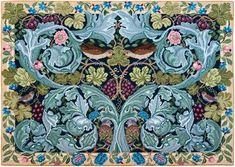 Acanthus and Vine: Beth Russell canvas of WIlliam Morris design.  Sumptuous!