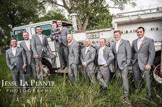 Jesse La Plante Photography   Wiens Ranch Wedding   Sedalia, CO   Groom and groomsmen in front of fire truck