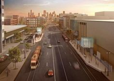 A step in the right direction for the D: A rendering shows what the M-1 Rail system would look like, with streetcars running up and down Woodward in Detroit. Naming rights could bri...