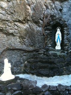 The Grotto, where St. Bernadette had a miraculous encounter with Mother Mary.   Lourdes, France (2010)