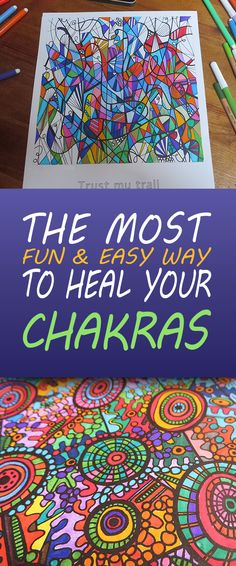 The most fun & easy way to heal your chakras is coloring them! For more info on these miracle drawings visit my website: www.coloryourchakras.com