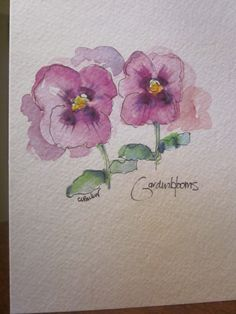 Pansy Watercolor Card by gardenblooms on Etsy Inspired