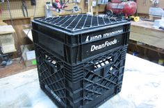 Kayak crate using 3 crates cut to different depths to make a tray and lid. Really good idea. Kayak crate using 3 Fishing Cart, Kayak Fishing Tips, Kayaking Tips, Fishing 101, Canoe And Kayak, Sea Fishing, Gone Fishing, Fishing Boats, Fishing Stuff