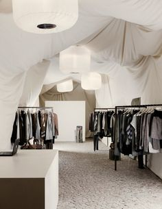 Nanushka Beta Store, Budapest where five architecture students have created this awesome temporary fashion store with just a 2000€ budget