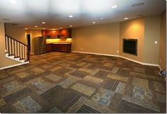 Awesome Carpet Tiles For Basement Interior Decor - Decorstate