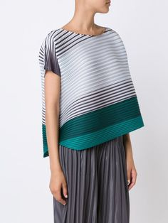 Pleats Please By Issey Miyake striped top