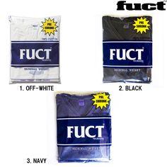 FUCT ( ファクト )/ 全3色 2枚パック ポケット付き Vネック 無地 Tシャツ 2PACK V NECK POCKET TEE ( OFF WHITE P.NAVY P.BLACK ) 4616