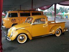 Super Ideas For Pickup Truck Camper Vw Bus Volkswagen New Beetle, Vw T1, Volkswagen Golf, Volkswagen Models, Vw Pickup, Pickup Trucks, Vw Classic, Classic Trucks, Custom Trucks