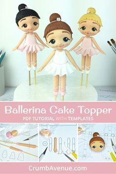Cake decorating Gear: whenever you're decorating for birthdays and the holidays, you do not require each cake decorating tool on the market, however, you need a few fundamentals. Listed here are essential for cake decorating. Ballet Cakes, Ballerina Cakes, Cake Topper Tutorial, Fondant Tutorial, Foundant, Marzipan, Ballerina Birthday Parties, Birthday Cakes, Fondant Toppers
