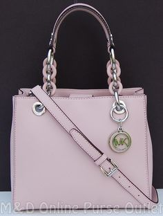 NWT Michael Kors Saffiano Leather Small Cynthia NS Satchel Purse ~Blossom #MichaelKors #Satchel