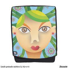 Lindo peinado exótico. Producto disponible en tienda Zazzle. Accesorios, moda. Product available in Zazzle store. Fashion Accessories. Regalos, Gifts. Link to product: http://www.zazzle.com/lindo_peinado_exotico_backpack-256470239611332211?CMPN=shareicon&lang=en&social=true&rf=238167879144476949 #mochila #backpack
