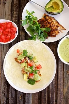 Grilled Fish Tacos with Avocado Salsa