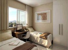 quarto solteiro com 2 camas apartamento - Pesquisa Google