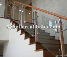 8mm tempered glass stair handrails