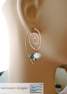 Copper Spiral Hoops charms Camp Sundance earrings | gembliss - Jewelry on ArtFire