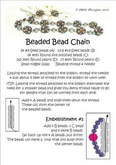 Bead Mavens: Tutorial Easy Beaded Bead Chain (Page 1 of 3)