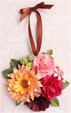 $Fleurs de Papier ~クラフトパンチや花紙で作る立体のお花いろいろ~-クラフトパンチで立体の紙の花
