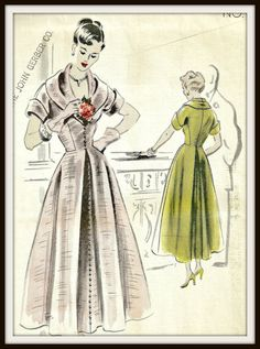 Vintage Vogue Couturier 494 Dress Pattern V Neck by Abbysfabric, $65.00