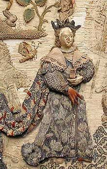 Detail at Basing house   info here http://www3.hants.gov.uk/willis-museum/basing-embroidery.htm