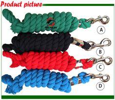 Livraison gratuite cheval plomb corde, pet de plomb corde, coton matériel, 20 MM épais, (ROPE1005)