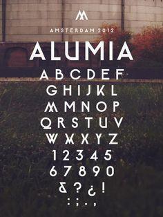 Alumia Typeface by Maarten van 't Wout