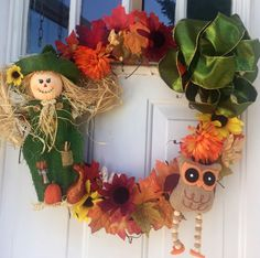 I just listed Fall Wreath with Scarecrow on The CraftStar @TheCraftStar #uniquegifts